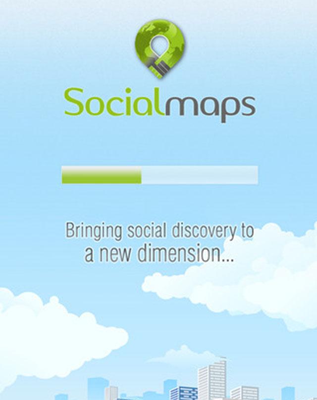 Social Maps iOS app